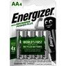 Energizer Batterij oplaadbaar accu AA power PL 2000MAH (Blister a 4 stuks)
