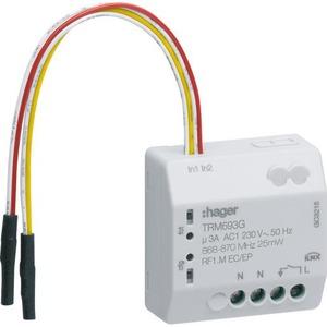 Hager KNX-RF INBOUWMODULE 230 V, 3-DRAADS, 2-V IN, 1-V RELAIS 230 V UIT