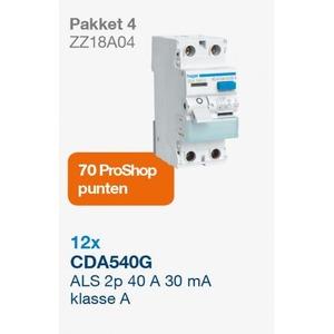 Hager RELATIEPAKKET A04 2018 AARDLEKSCHAKELAAR 1-FASE CDA540G