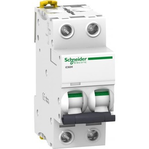 Schneider Electric Acti 9 Installatieautomaat C karakteristiek 2A 2p 2TE A9F84202