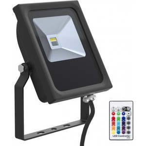 Bailey LED FLOODLIGHT BLACK 10W RGBW+REMOTE