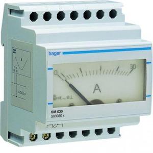 Hager Amperemeter analoog 0-30 A