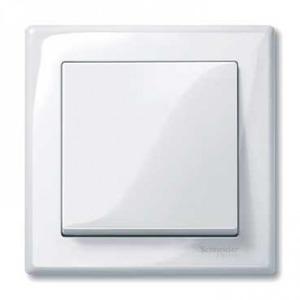 Merten Systeem M bedieningselement Aan-/uit-schakelaar Enkele wip Wit MTN432125