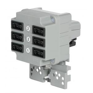 ABB Kabeldoos met 3-fase connector en 3x2 gst18