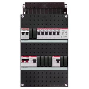 ABB 6x achter 2x 30mA+FT+HS, 1-f Installatiekast