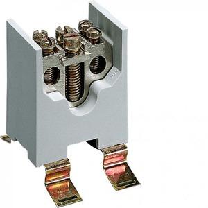 Hager K aansluitklem voor hoofdkabel 1p DIN-rail/schroef 2-aansluitingen K64