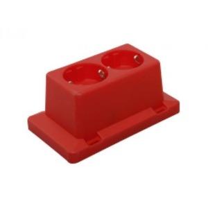 ABB 2-voudige wcd voor 3611 kleur rood