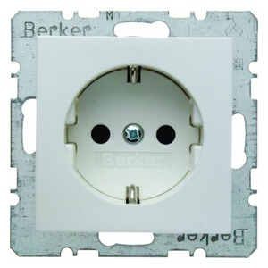 Berker S.1/B.3/B.7 wandcontactdoos RA 1V KV Wit 47231909