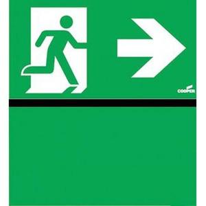 Eaton Blessing Bl iso perspex skopos (led) d & perspex-i pijl rechts+groen vlak