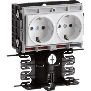 Hager Tehalit sl20080 frame outlet incl.2x wcd wit