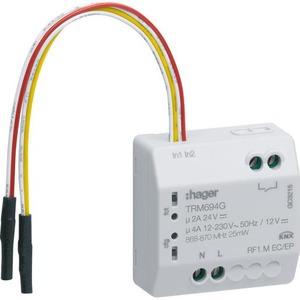 Hager KNX-RF INBOUWMODULE 230 V, 2-DRAADS, 2-V IN, 1-V POT.VRIJ CONTACT UIT