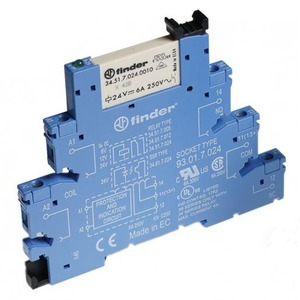 Finder INTERF.RELAIS 1W 6A 12VDC S.