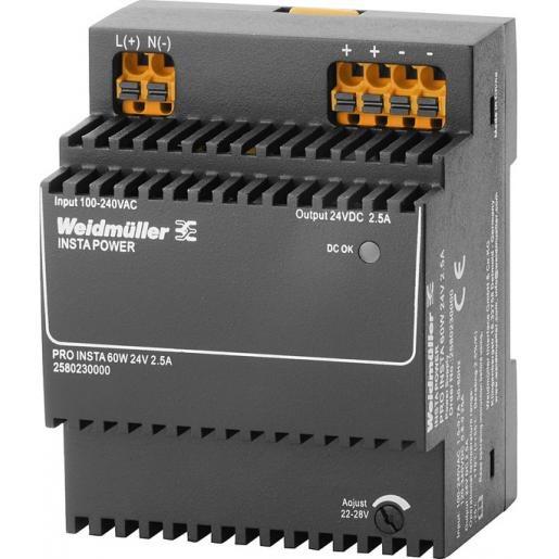 Weidmuller Power supply 2.5a @ 55°c