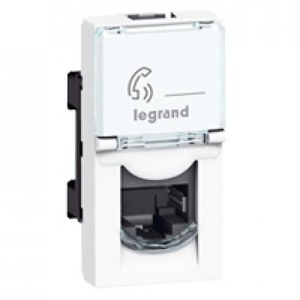 Legrand MOSAIC CONNECTOR CAT6 FTP RJ45 1 MODULE BREED WIT