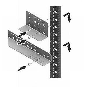 Rittal TS-IT Glijrail vast 345mm / 80KG VE=2