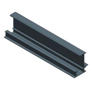 Van der Valk Valkpitched schuifprofiel 6650mm zwart aluminium 700304606650zw be