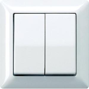 Jung As500 bedieningselement aan-/uit-schakelaar tweedelige wip wit as590-5ww