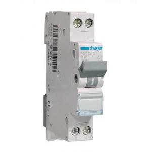 Hager Installatieautomaat 1p+N 16 A B 4,5kA