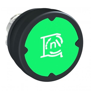 Schneider Electric PUSHBUTTON HE, GREEN, WITH MARKING