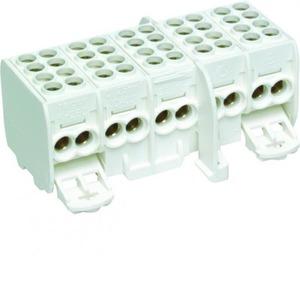 Hager KH aansluitklem voor hoofdkabel 5p DIN-rail/schroef 10-aansluitingen KH25C