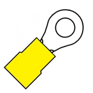 Klemko A4643r 6 mm2 m4 geel
