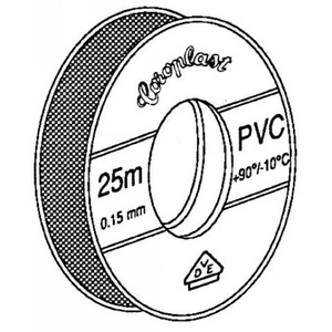 Coroplast 302 zelfklevende tape 15mmx4m PVC Grijs 440069