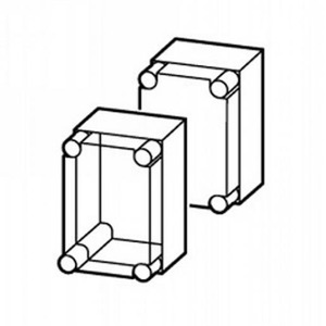 Eaton Kast, CI, HxBxD=250x187.5x175mm, deksel transparant, metr.doordrukgate