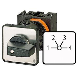 Eaton Stappenschakelaar, 1p, Ie=12A, FS 1-4, 45°, vast, 48x48mm, inbouw