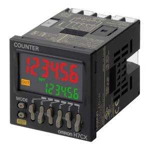 Omron 48x48 mm, LCD-6 cijfers, multifunctie, programmeerbare visuele signale