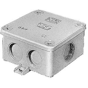 OBO Kabeldoos met 3 wartels Pg16, 6mm2 660V, IP54 94x94x45, UF, lichtgrijs