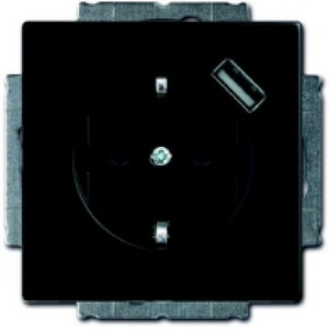 ABB Busch-Jaeger Future linear wandcontactdoos RA 1V KV Zwart 2011-0-6165