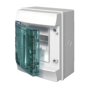 ABB Verdeelkast opbouw, 4mod, transp.deur ,IP65, RAL7035, Mistral65