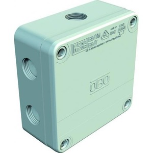 OBO Kabeldoos met klemsteen pg16 4-6mm2 400v ip67 110x110x50 pp lichtg