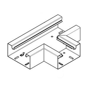 Hager BRS, T-stuk plaatstaal voor kanaal 100x130 mm, helderwit
