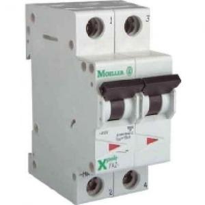 Eaton Installatieautomaat FAZ-B10/1N , B 10A , 2 Polig incl. NUL , 15 kA