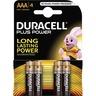 Duracell Batterij alkaline MN2400 LR03 AAA potloodcel (blister 4 stuks)