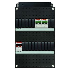 ABB 2x 16A/30mA+HS, 1-f Installatiekast