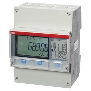 ABB Energiemeter 3 fase direct 65A, 230/400V Klasse B, Pulsuitg.