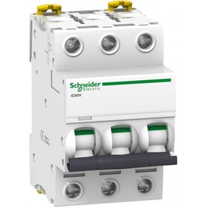 Schneider Electric Acti 9 Installatieautomaat C karakteristiek 2A 3p 3TE A9F84302