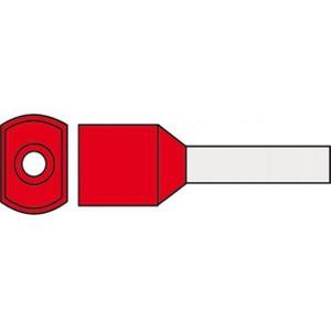 Klemko adereindhuls 1mm² 8mm Geïsoleerd Rood 727515