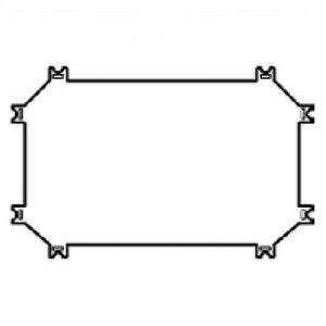 Eaton Montageplaat, kunststof, voor CI43 kast