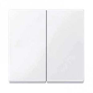 Merten Systeem m bedieningselement aan-/uit-schakelaar tweedelige wip wit mtn432525