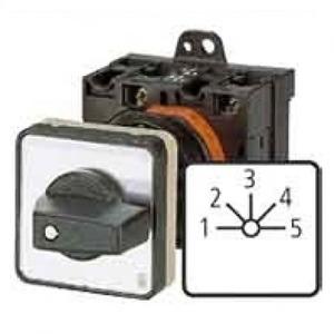 Eaton Stappenschakelaar, 1p, Ie=12A, FS 1-5, 45°, vast, 48x48mm, inbouw