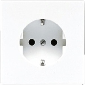 Jung LS range wandcontactdoos RA 1V KV Cremewit/elektrowit LS520NKI