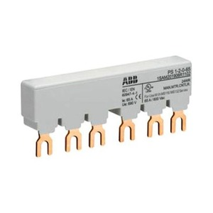 ABB verzamelrail voor 2 MS116/MS132 met 1 HK/SK, Ie=65A met 1 hulpcontact