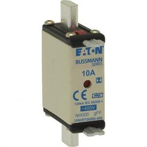 Eaton NH ZEKERING, 160 A, AC 400 V, NH00, GFF, IEC, DUBBELE MELDER, GEÏSOLEE