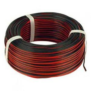Bohm HLSS luidsprekersnoer 2x1,5mm² Rood/zwart 2502012.R100