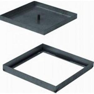 Legrand Blinddeksel aluminium rechthoekig met markeerrand