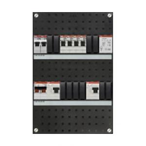 ABB 4x achter 2x 30mA+FT+HS, 1-f Binnenwerk+deksel