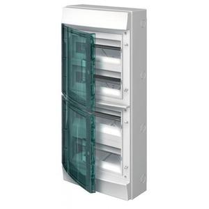 ABB Verdeelkast opbouw, 48mod, transp.deur ,IP65, RAL7035, Mistral65